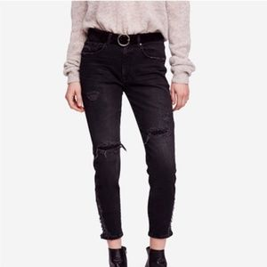 Free People About A Girl High-rise Skinny Jeans
